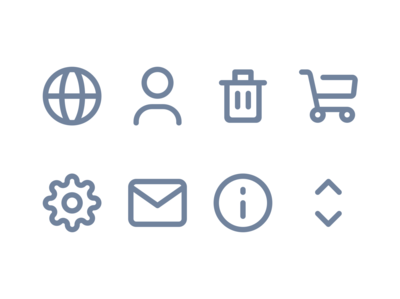Webshop icons