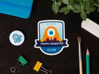 Monster club badge