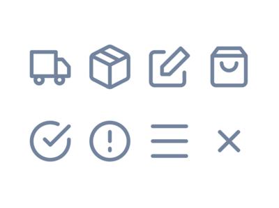 Checkout icons