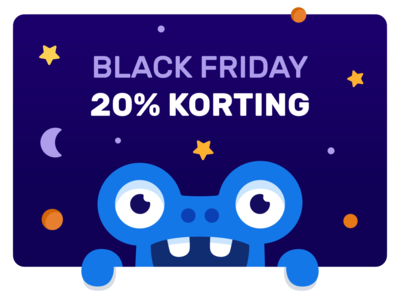 Discount monster happy promotion art vector discount branding design typography illustration character monster