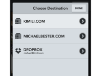 Destination Picker