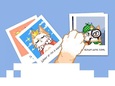 Pixelcraft App: Unicat Mascot design character illustration unicorn cat drawing game coloring pixel-art pixel app design ux ui
