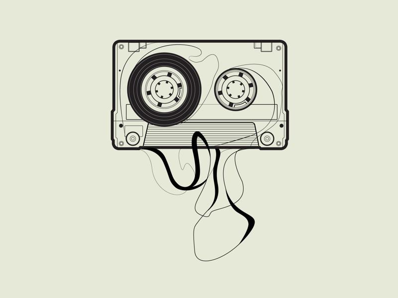Unwind mixtapes illustrations music cassettes