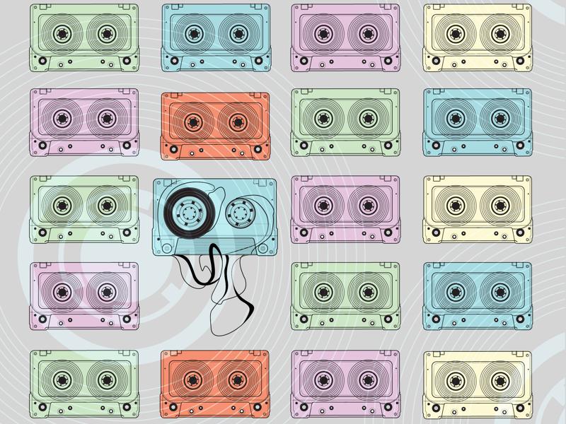 I love cassettes too music mixtapes illustrations cassettes