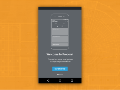Android Intro To Procore Redesign redesign mobile ux ui graphics construction walk me
