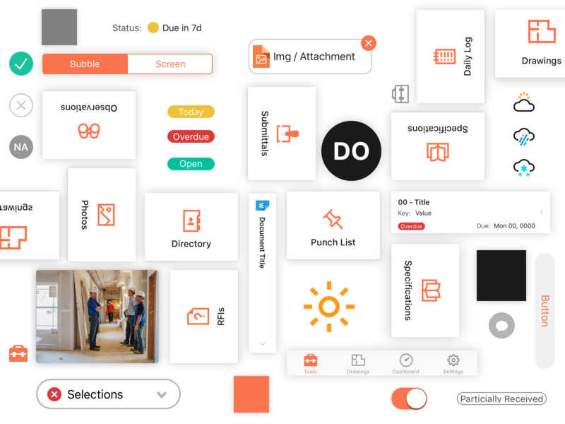 iOS UI Components style guide status avatar icons set icons ui library components ux design ux ui ui 100