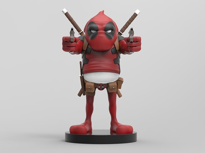 Frankpool Collectible  collectibles toy design character design keyshot zbrush digital sculpture