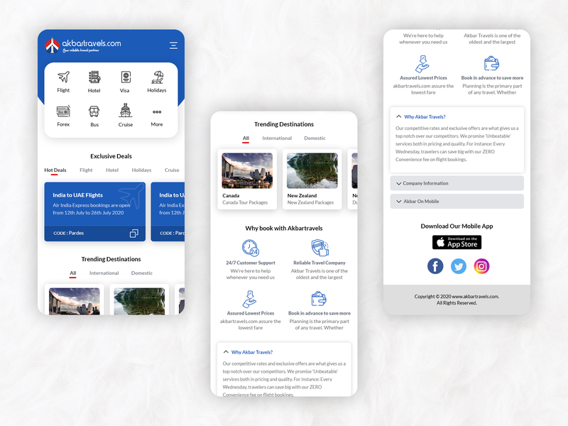 Akbartravels mobile site redesign mobile design minimal white clean mobile ui travel