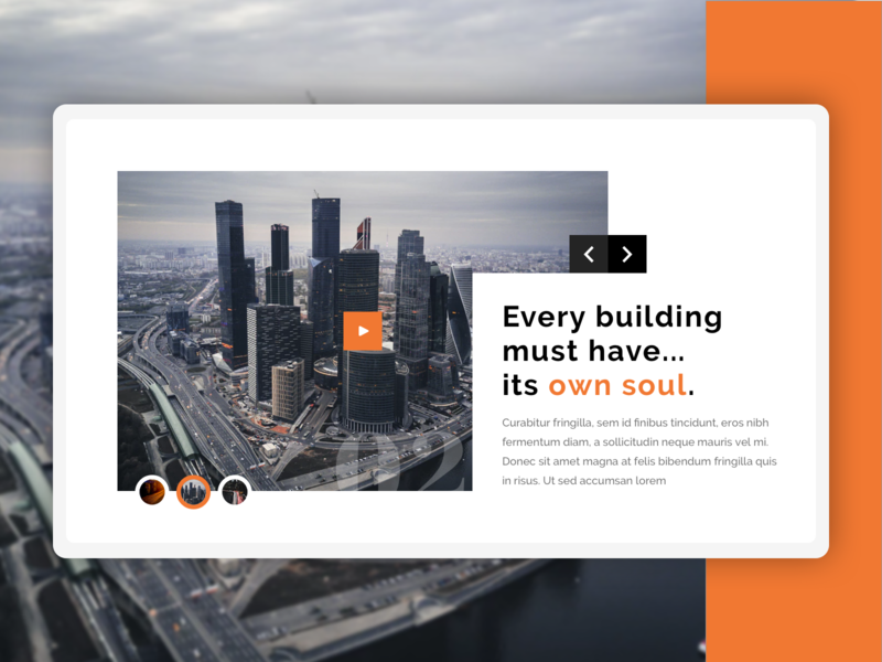 Video Slider Design thumbnails video slider video single slider slider carousel simple white and black white orange beautiful ui clean building latest website minimal new modern design