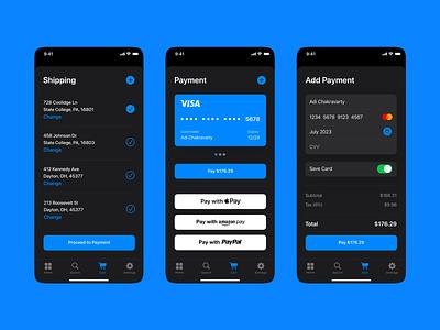 Daily UI #002: Credit Card Checkout ux ui light theme light mode dark theme dark mode dailyui 002 dailyui checkout apple design ios design