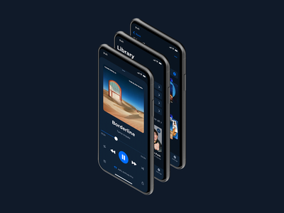Daily UI #009: Music Player music app music player mobile design mobile ui dark theme dark mode ux ui dailyui009 dailyui