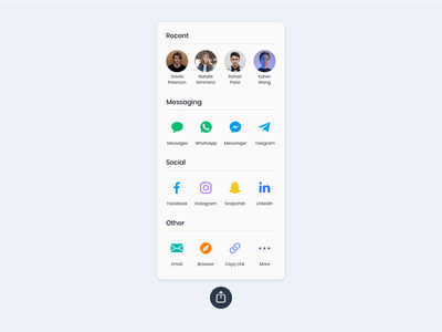 Daily UI #010: Social Share principle for mac principle app principle social sharing social share social share button interactive prototype interaction design ux ui dailyui010 dailyui