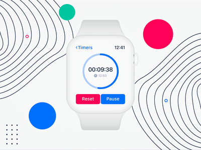 Daily UI #014: Countdown Timer timer app timer countdown timer watchos design watchos light theme light mode ux ui dailyui014 dailyui