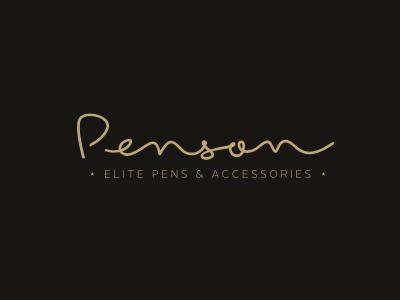 Penson identity branding logo calligraphy pen stationery elite shop