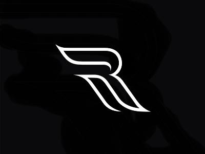R Letter monogran logo typography mark letter