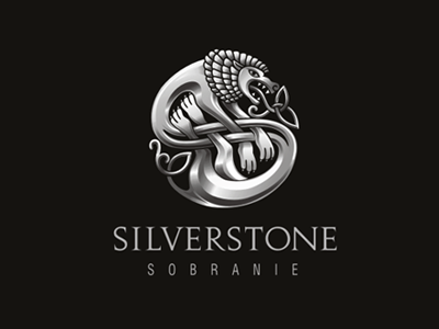 SILVERSTONE lion fashion boutique celtic logo silver metal identity