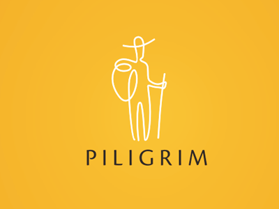 Piligrim logo logotype identity typography mark travel piligrim agency