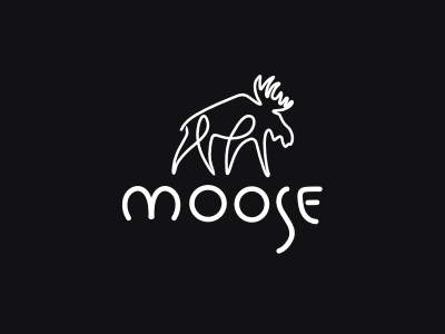 Moose branding identity draw animals logo moose