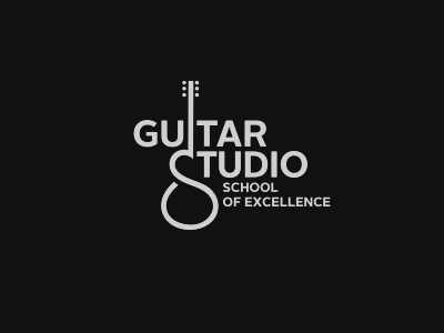 Guitar  Studio identity branding brand guitar music school excellence
