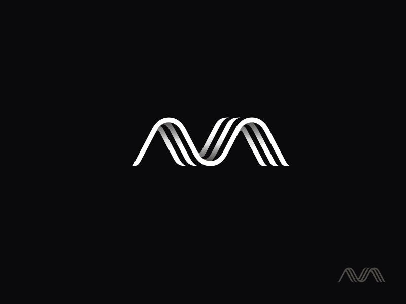 Ava icon symbol brand monogram logotype lettering design mark logo identity branding ava