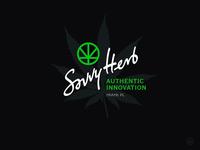 Savvy Herb sb minimal miami logotype cannabis logo brand identity company calligraphy symbol lettering mark design monogram branding logo