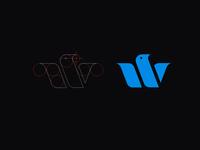 W Bird sb letter typography icon symbol lettering design mark brand monogram logotype branding logo identity