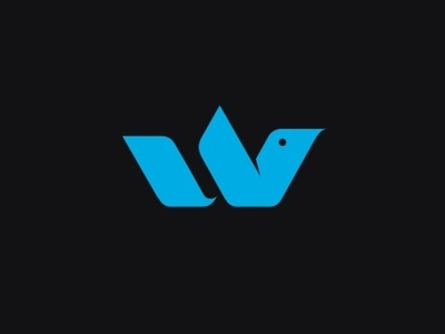 W bird 2 concept typography studio sb icon company symbol lettering design mark monogram logotype branding identity logo brand bird
