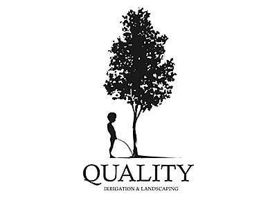 Quality identity branding brand irrigation landscaping studio logo boy tree