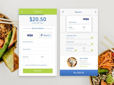 Food Delivery Payment Form | Daily UI #002