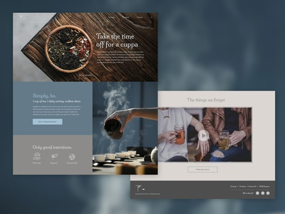Landing Page for Tea | Daily UI #003