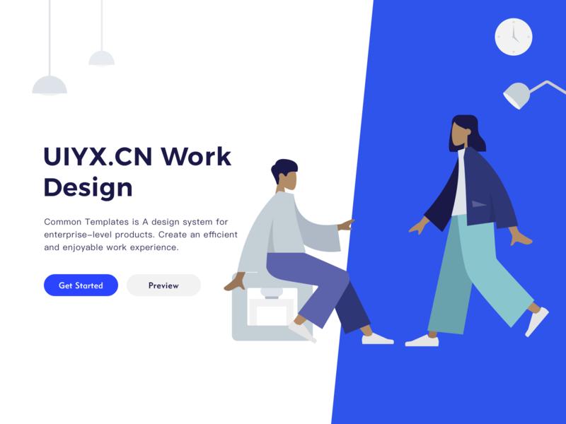 UIYX design website website web design web branding ui illustration design