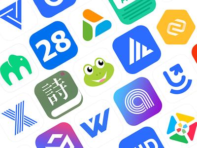 logo design collection vector typography icon logo spring branding illustration poster ui design