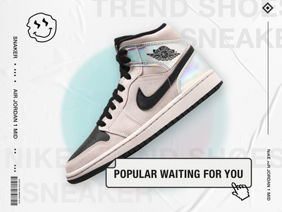 Nike Trend shoes poster design branding parper shoes nike shoes nike air trend ui poster design