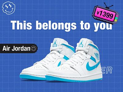 Nike Air Jordan Trend shoes poster design nike shoes typography ternd weather branding logo illustration parper ui poster design