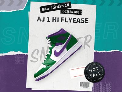Trend shoes poster design shoes shoes design airjordan trend typography branding parper poster design