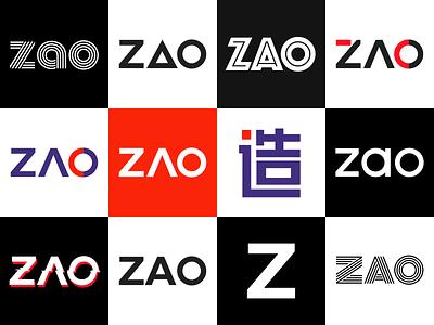 ZAO Brabd Logo Design zao letter typography brand brand design ui app design icon logo vector branding