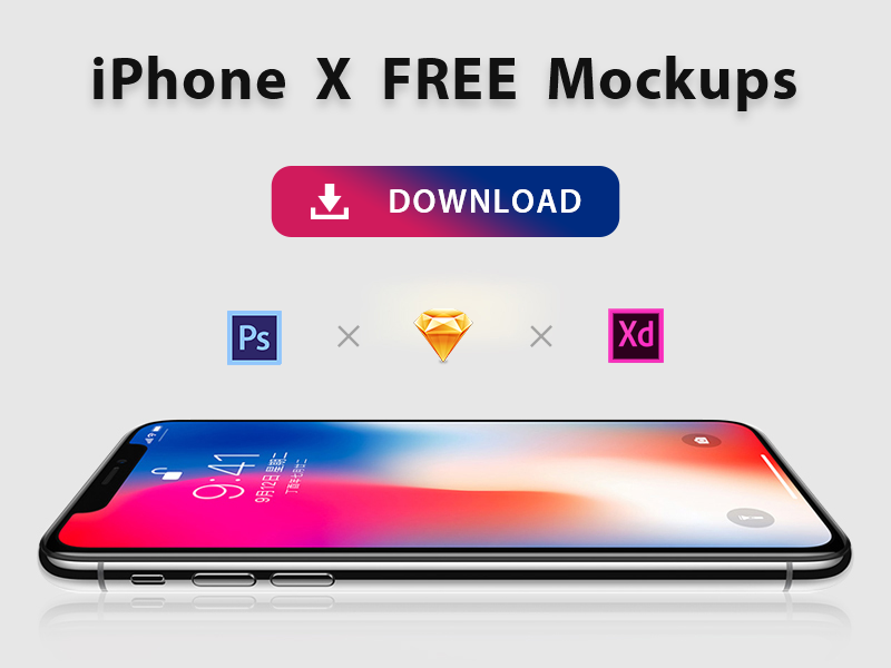 iPhone X Mockups ui sketch photoshop mockup x 8 iphone 11 ios gui download design