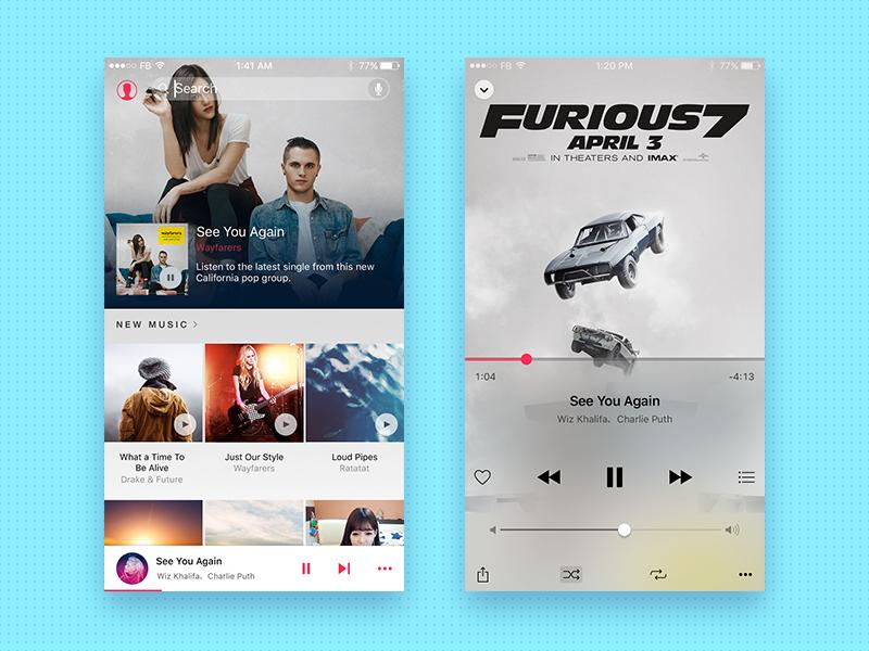 Music Player abuse report ux ui radio playlist player music ios interaction app