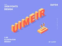 2.5D Illustrator Fonts Design
