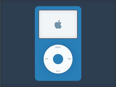 Flat iPod Classic apple flat ipod sketch