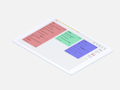 To-do lists in kanban view for tidily.io
