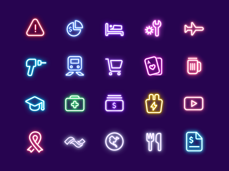 Category Icons icon branding illustration mobile glyphs ui app iconography icons category