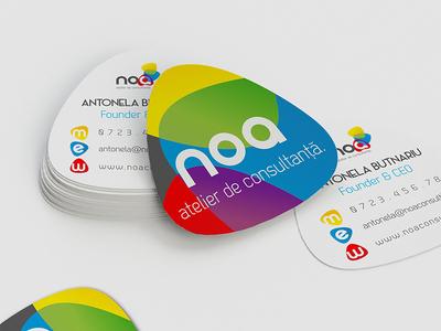 noa - die cut business cards