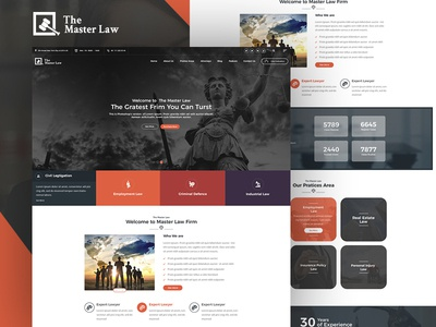 The Master Law Agency Themedesign