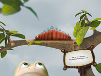 Caterpillar in a hurry