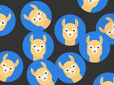 Workplacebuddy logo sticker alpaca flat branding design design logo vector ui brand graphic design branding illustration