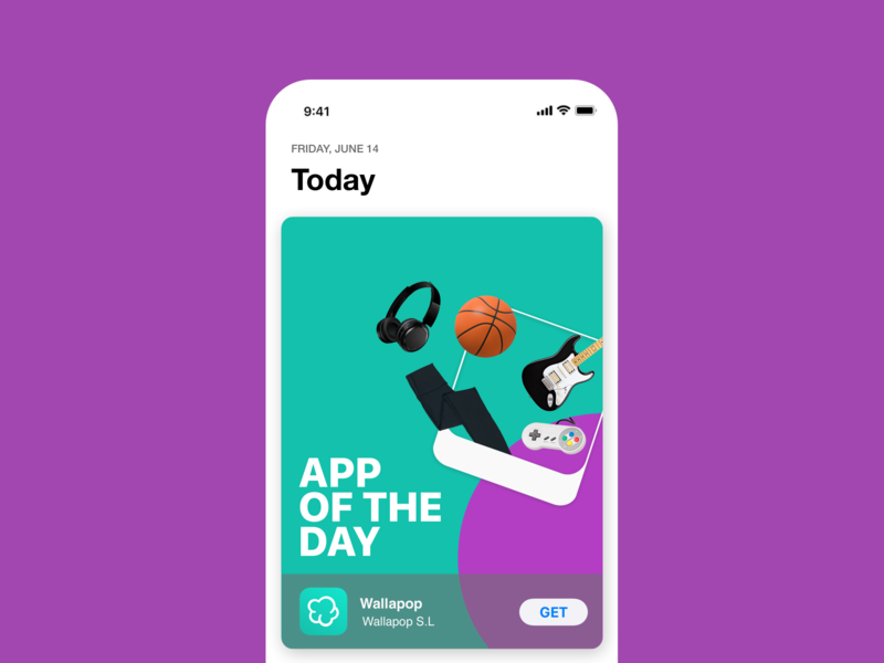 Wallapop App of the day icon ux brand branding design application appstore app of the day app graphic design branding design