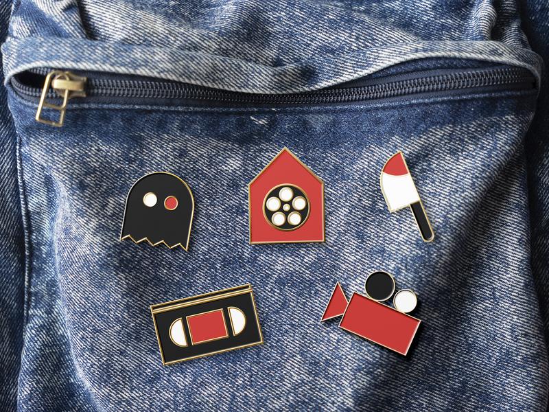 La casa de los Horrores pins pin design pins pin brand branding design graphic design design branding illustration