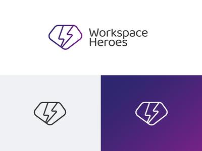 WorkspaceHerores logo icon typography logo vector ui brand branding design graphic design design branding illustration