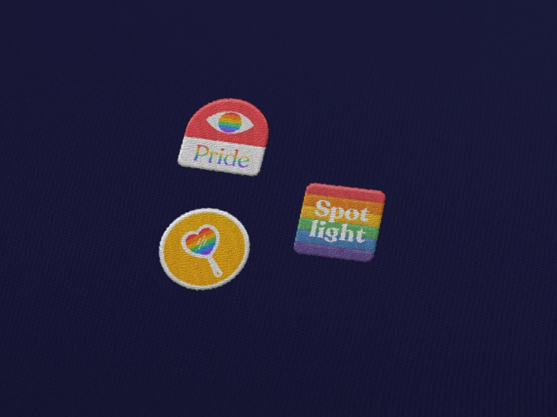 Pride Embroidered designs embroidery embroidered patch rainbow pride design pridemonth pride typography branding design graphic design branding design illustration